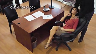 Sexy MILF secretly films herself having sex with her married colleague