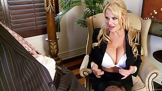 Kelly Madison is a sexy businesswoman badly off be required of a drill