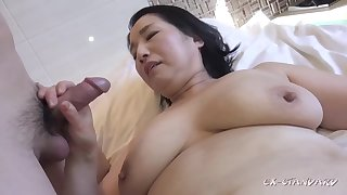 Chubby asian GILF crazy sex video