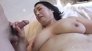 Chubby asian GILF crazy sex video