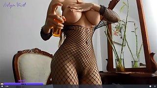 Asian busty MILF hot webcam video