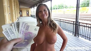 Raunchy cougar humped in public Point-Of-View
