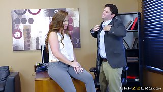Preston Parker and Maddy O'Reilly share in a wild office hookup