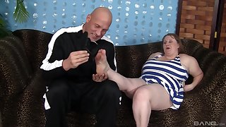 BBW in mature scenes of rough pussy sex