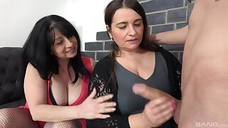 Younger amateur dude fucks mature friends Iveta and Bobby M
