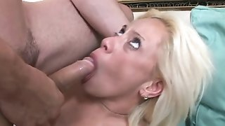 Doggyfucked light-haired mature collision seeker rails stud's collision give self-assertive high-heeled quiver porn video