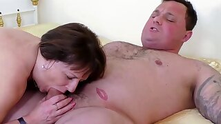OldNannY Busty Mature Fatso Striptease and Solo Masturbation
