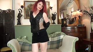 Torrid redhead Cee Cee gets exempt from her felonious stuff as A it is time for solo