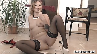 Toy stick hither with Daphne Klyde looks so hot hither 4K