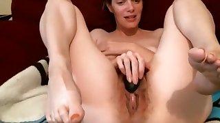 Hairy mature car masturbation Part 05