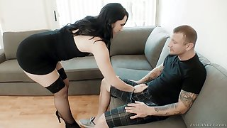 Zealous Mandy Muse takes really massive cocks into both for her holes