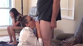 Splendid stud with gigantic fuck-stick likes humping mummy plus their way step daughter-in-law best sex