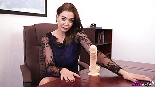 Lusty MILF Sapphire is happy to expose boobies for you during her solo