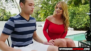 Dude gets help from a sexy MILF and she wants to teach him how to fuck a woman
