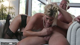 Elegant MILF India Summer is overwhelmed by a nice cock and she is all over it