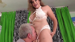 Full-grown with big tits, plumb loco porn scenes on the top of set