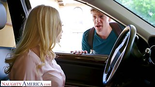 Mouth watering blond teacher Claudia Valentine seduces one of her students