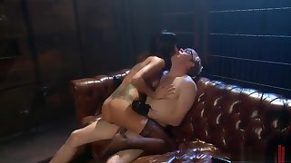 Milf Gia DiMarco taking part in female domination sex video