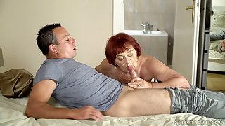 Heavy wrinkled mature cowgirl Marsha deserves banging from behind