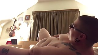 Bald BBW toying and being bratty about orgasm control