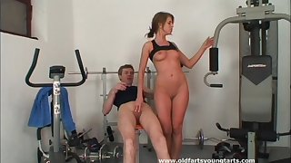 Hardcore pussy drilling after working out with stunning Kristyna G