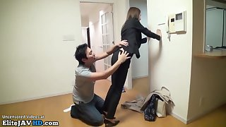 japanese house agent hard sex intercourse at work - 18-year-old